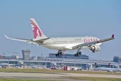 Opinión de Airbus A330-200 Fotos de archivo