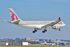 Opinión de Airbus A330-200 Foto de archivo libre de regalías