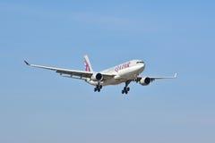 Opinión de Airbus A330-200 Fotos de archivo libres de regalías