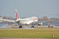 Opinión de Airbus A330-200 Fotografía de archivo