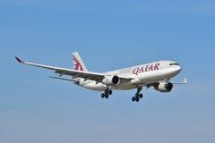 Opinión de Airbus A330-200 Imágenes de archivo libres de regalías