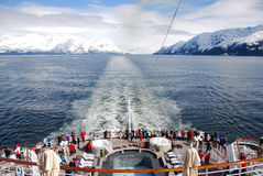 Opinión de Alaska de la nave Imagenes de archivo