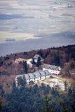 opinión de Alsacia de la Pájaro-mosca de Mont Sainte-Odile Fotos de archivo libres de regalías