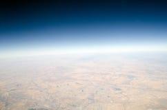 Opinión de alta altitud de la tierra Fotografía de archivo libre de regalías
