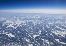 Opinión de alta altitud de la tundra congelada en el ártico Imagen de archivo libre de regalías