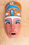 Opinión de alto ángulo Clay Mask pintado Fotos de archivo libres de regalías
