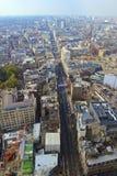 Opinión de alto ángulo de la calle de Oxford Fotos de archivo libres de regalías