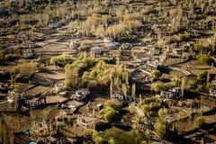 Opinión de alto ángulo de la ciudad de Leh Fotos de archivo