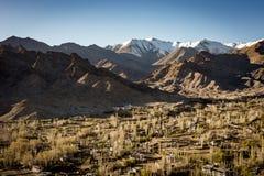 Opinión de alto ángulo de la ciudad de Leh Fotografía de archivo
