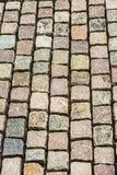 Opinión de alto ángulo de las piedras del adoquín Fotografía de archivo