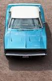 Opinión de alto ángulo del cargador de Dodge del vintage Imagenes de archivo