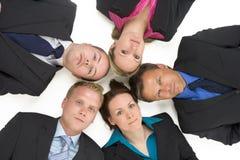Opinión de alto ángulo hombres de negocios fotos de archivo libres de regalías
