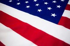 Opinión de alto ángulo de la bandera americana Fotos de archivo
