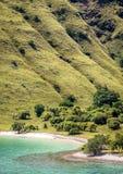 Opinión de alto ángulo de la playa rosada Foto de archivo libre de regalías