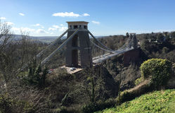 Opinión de alto nivel Clifton Suspension Bridge Fotografía de archivo