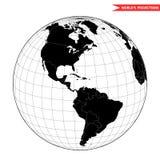 Opinión de América del espacio Foto de archivo