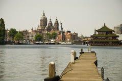 Opinión de Amsterdam Imagen de archivo libre de regalías
