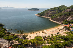 Opinión de Arial de la playa famosa de Vermelha del Praia Fotos de archivo