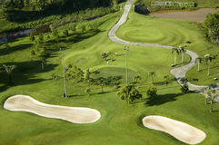 Opinión de Ariel del campo de golf Imágenes de archivo libres de regalías