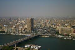 Opinión de Ariel de la torre de El Cairo fotografía de archivo libre de regalías