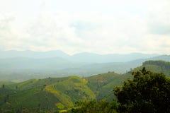Opinión de Ariel de montañas en Lam Dong, Vietnam Fotografía de archivo