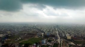 Opinión de Ariel de una porción de ciudad de Dacca en Bangladesh imágenes de archivo libres de regalías
