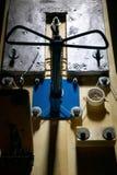 Opinión de arriba el tablero de madera extremadamente sombreado foto de archivo libre de regalías