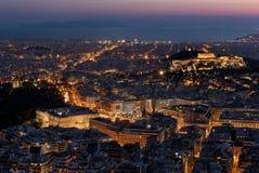 Opinión de Atenas fotografía de archivo libre de regalías