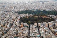Opinión de Atenas Foto de archivo