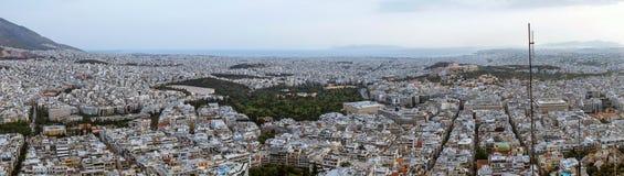 Opinión de Atenas del monte Licabeto Imagen de archivo libre de regalías