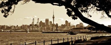 Opinión de Auckland Fotografía de archivo
