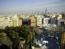 Opinión de Barcelona Imagen de archivo libre de regalías