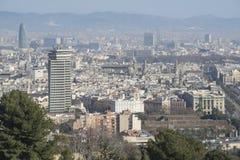 Opinión de Barcelona Imágenes de archivo libres de regalías