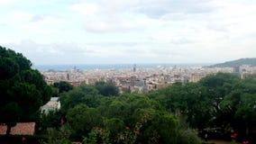 Opinión de Barcelona del parque de Guel fotos de archivo