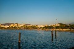 Opinión de Beautful de la playa en Santa Marta, Colombia Foto de archivo libre de regalías