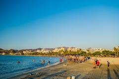 Opinión de Beautful de la playa en Santa Marta, Colombia Fotos de archivo libres de regalías