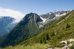 Opinión de Beautifull en el Alpes Fotografía de archivo