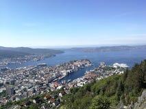 Opinión de Bergen imagenes de archivo