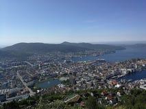 Opinión de Bergen fotografía de archivo libre de regalías