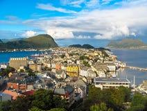 Opinión de Bergen Fotografía de archivo