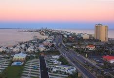 Opinión de Birdseye de la playa de Pensacola Fotografía de archivo