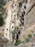 Opinión de Birdseye de un rastro de Grand Canyon Imagen de archivo libre de regalías