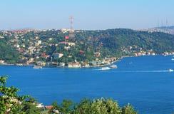 Opinión de Bosphorus, Estambul, Turquía Imagen de archivo