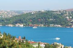Opinión de Bosphorus, Estambul, Turquía Imagen de archivo libre de regalías