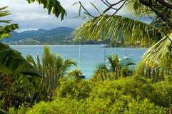 Opinión de British Virgin Islands de Marina Cay imágenes de archivo libres de regalías
