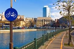 Opinión de Bucarest imagen de archivo libre de regalías
