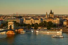 Opinión de Budapest Fotos de archivo
