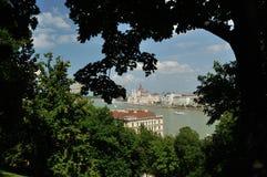 Opinión de Budapest Foto de archivo