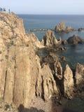 Opinión de Cabo de Gata Fotografía de archivo