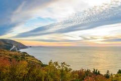 Opinión de Cabot Trail Scenic Fotos de archivo libres de regalías